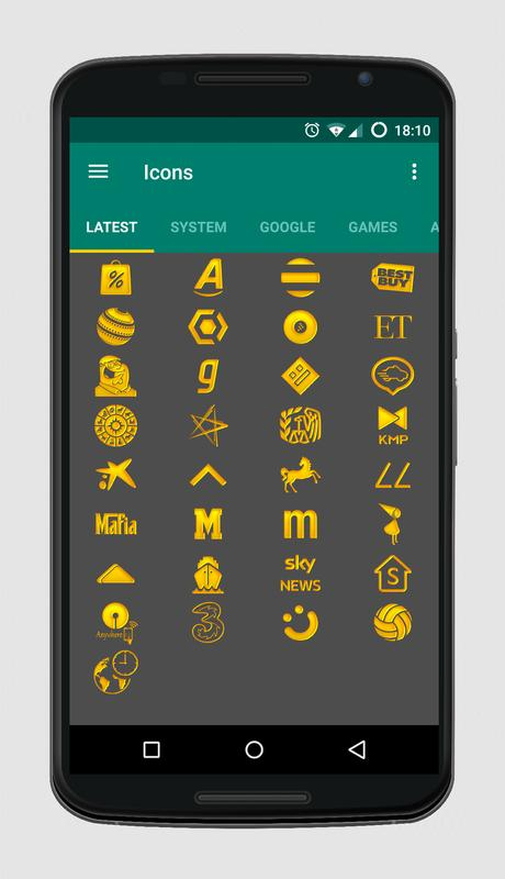 Golden Icons - Icon Pack APK Download