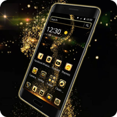 Golden Universe Galaxy NeonTheme icon