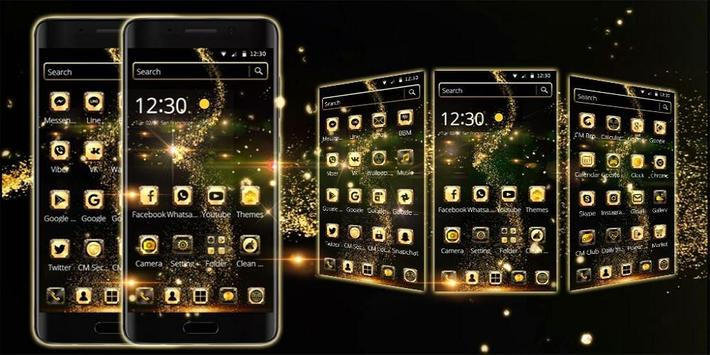 Golden Universe Galaxy NeonTheme screenshot 3