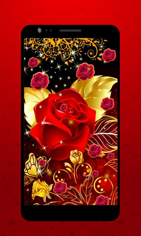 Golden Rose Live Wallpaper Hd For Android Apk Download