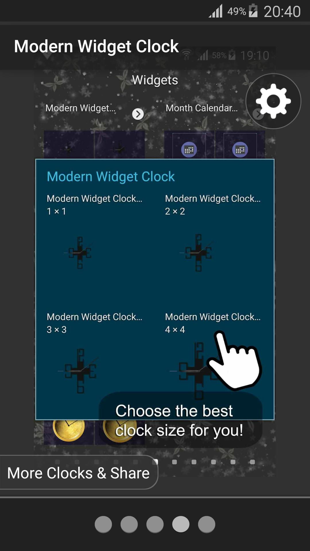 Modern Widget Clock for Android - APK Download