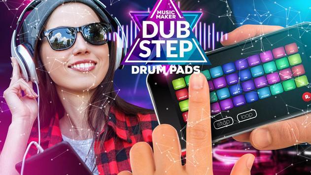Drum Pad dubstep music maker dj poster