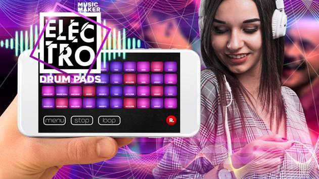 Drum Pad electro music maker dj poster
