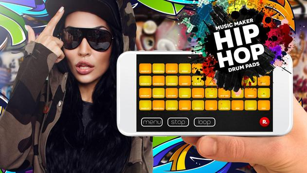 Drum Pad HIP-HOP music maker dj poster