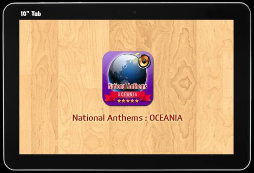 National Anthems : Oceania screenshot 4