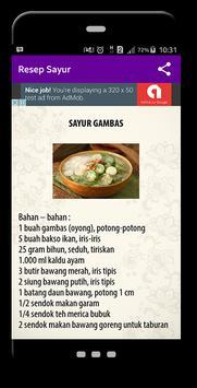 Resep Sayur screenshot 2