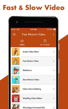 Fast : Slow Motion Video Maker screenshot 1