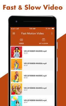 Fast : Slow Motion Video Maker screenshot 2