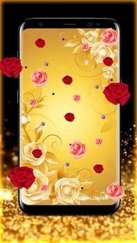 Golden Rose Live Wallpaper HD screenshot 4