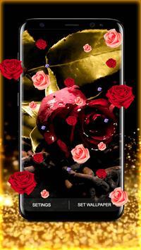 Golden Rose Live Wallpaper HD screenshot 5