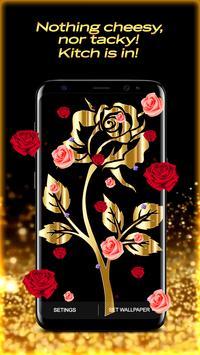 Golden Rose Live Wallpaper HD screenshot 1