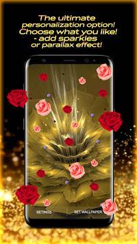 Golden Rose Live Wallpaper HD screenshot 2