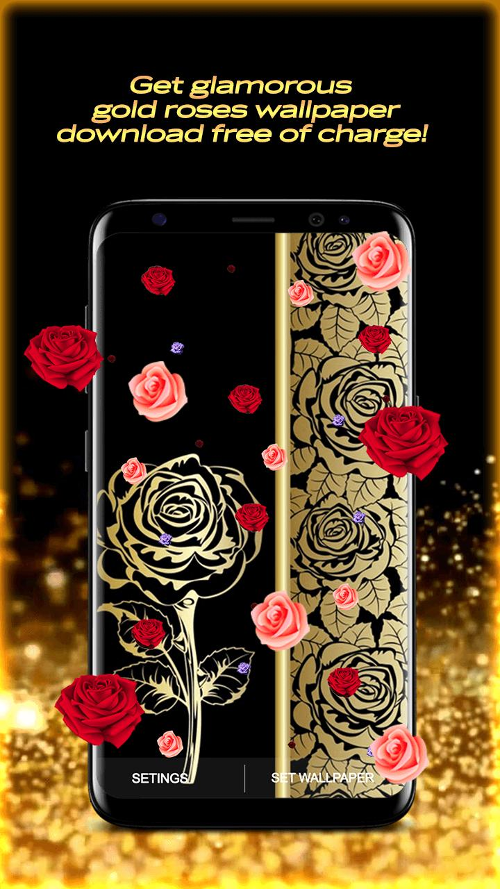 Golden Rose Live Wallpaper HD for Android - APK Download