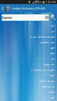 Golden Dictionary (FR-AR) apk screenshot