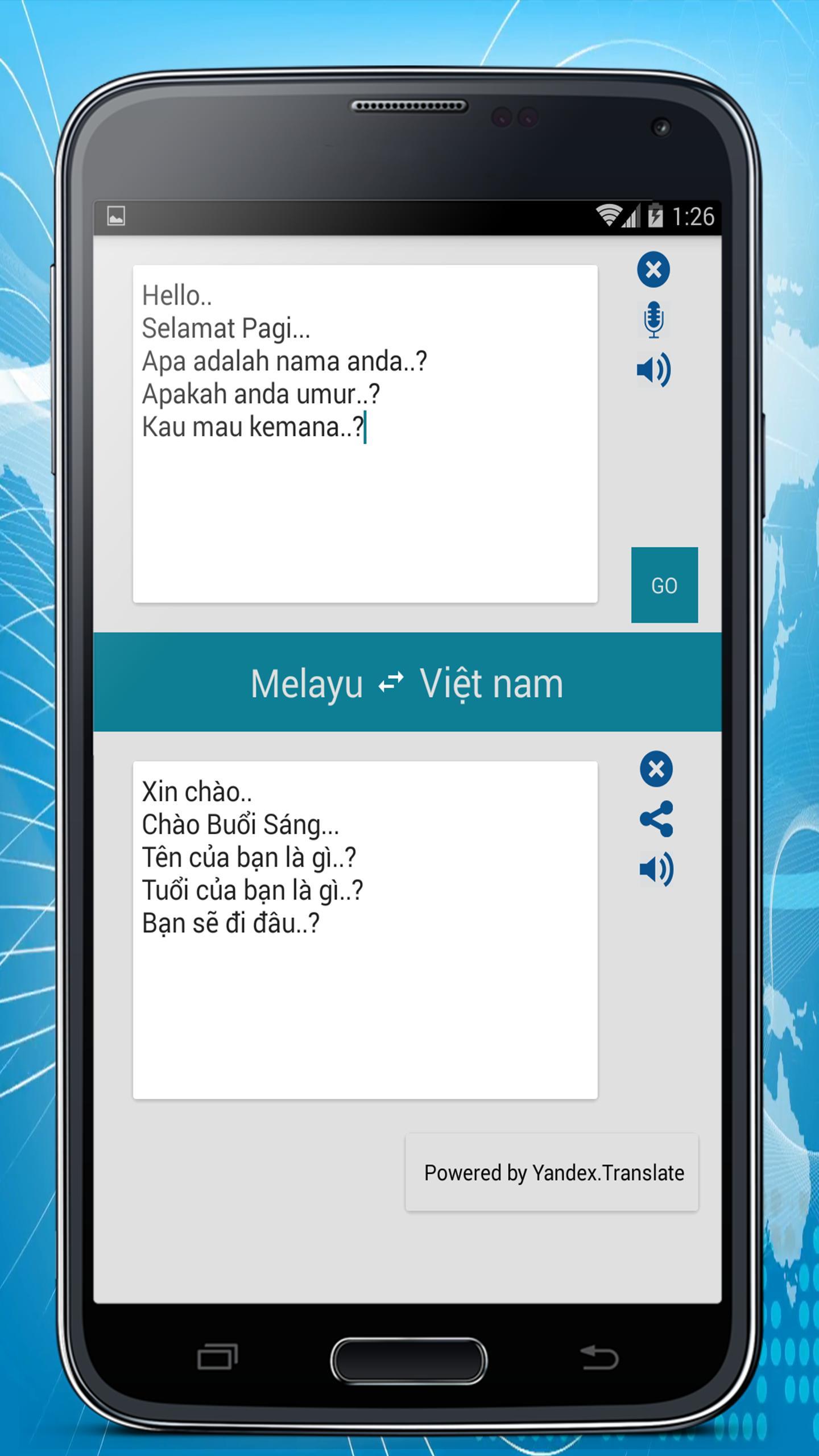 Malay Vietnamese Translator For Android