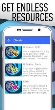 Gold Cheats for Clash of Clans apk screenshot