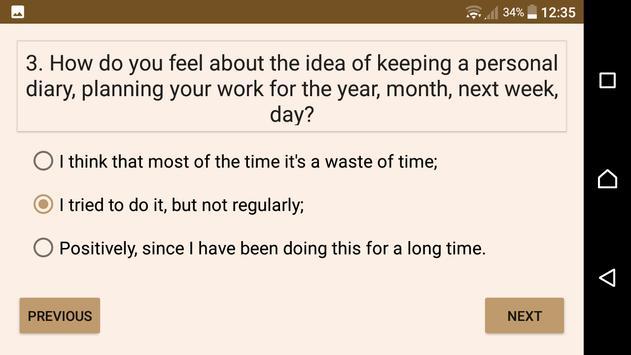 Self Education Ability Test apk screenshot