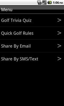 Golf Trivia Quiz poster