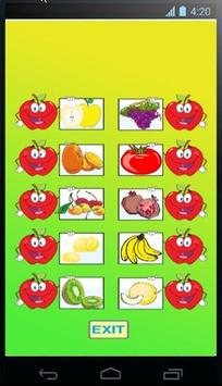 Word games fruit poster