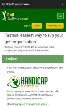 Golf Software app by GolfSoftware.com 截图 1