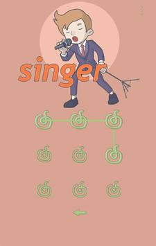 Singer Theme-AppLock Pro Theme apk screenshot