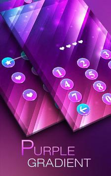 purplegradient Theme -AppLock poster