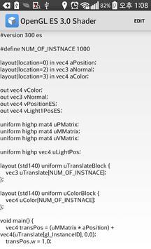 OpenGL ES 3.0 Shader captura de pantalla 5