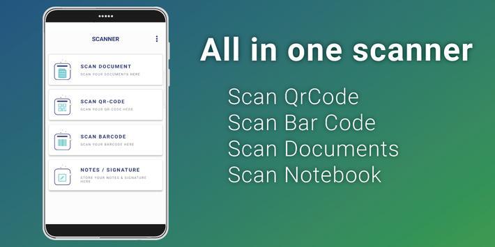 QR Code, Bar Code & Document Scanner poster