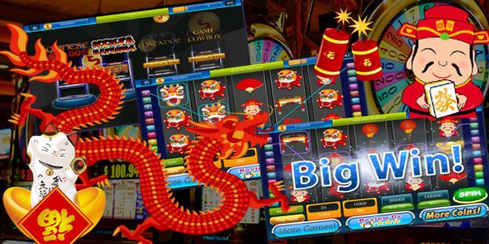 Chinese New Year Slot Machine Casino Billionaire poster