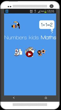 Easy Free Numbers kids Math poster
