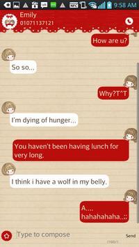 dasom(love) go sms theme apk screenshot