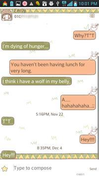 Kogumong indian go sms theme screenshot 1