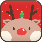 Red Rudolph go sms theme icon