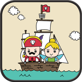 Pirate captain and fairy SMS icon