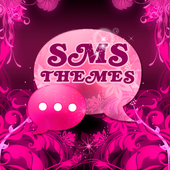 Theme Pink Flower GO SMS icon