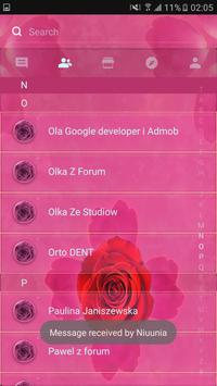 Theme rose pink cute GO SMS apk screenshot