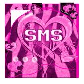 Heart Theme Zebra Pink GO SMS icon