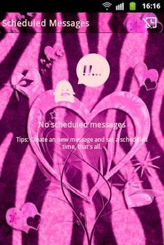 Heart Theme Zebra Pink GO SMS screenshot 4