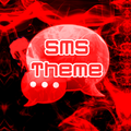 Rotes Rauch-Thema GO SMS PRO