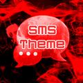 赤い煙のテーマGO SMS PRO
