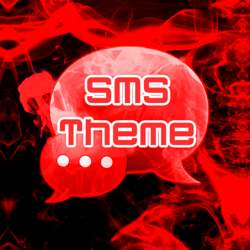 Red Smoke Theme GO SMS PRO