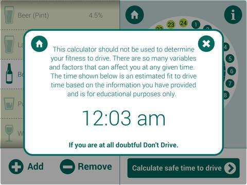 Drive Time Calculator >> Drink Drive Calculator For Android Apk Download