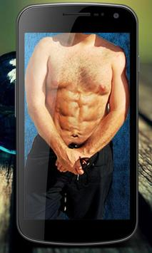 Men Six Pack Abs Photo Editor poster