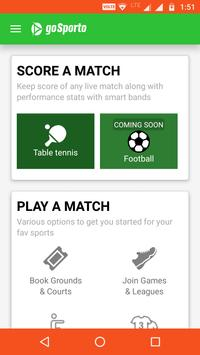 goSporto: Scores & Stats | Supports Smart Watch poster