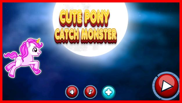 Cute Unicorn Poke Catch poster
