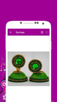 Silk Thread Earrings Offline apk screenshot