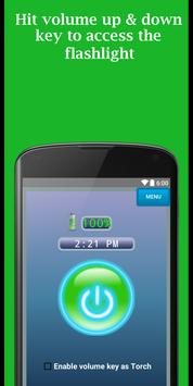 Flashlight in Volume key apk screenshot