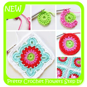 Pretty Crochet Flowers Step by Step icon