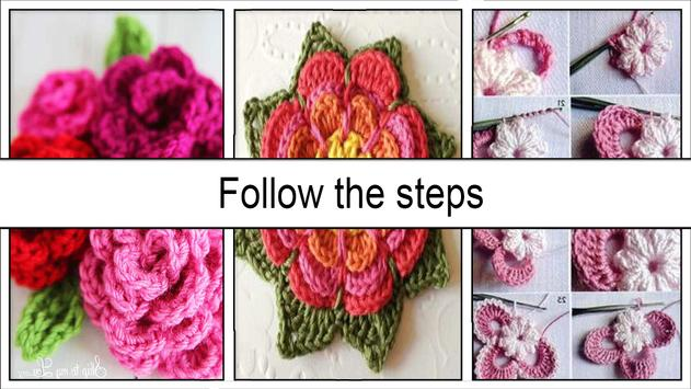 Pretty Crochet Flowers Step by Step screenshot 4