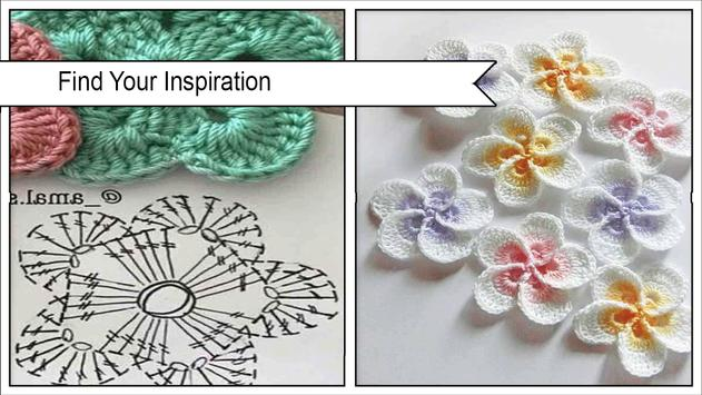 Pretty Crochet Flowers Step by Step poster